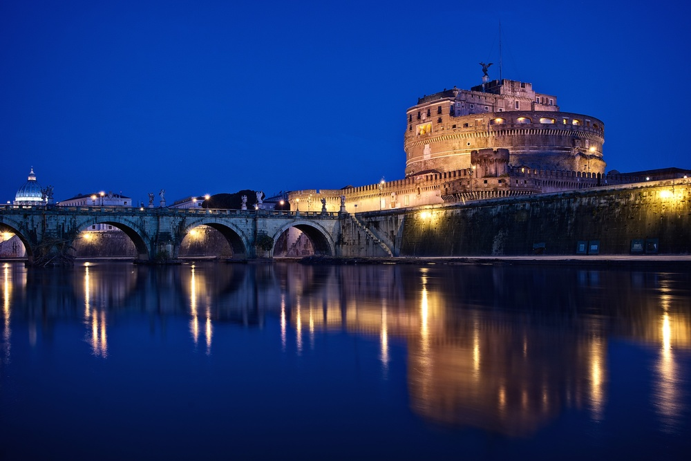 The Castel Sant'Angelo Before Dawn. Love the inky skies. Don't love the composition.