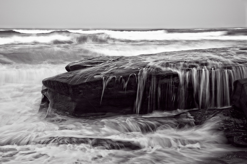 Black & White Gallery  / Nature Sculpts The Shore /  Buy a Print