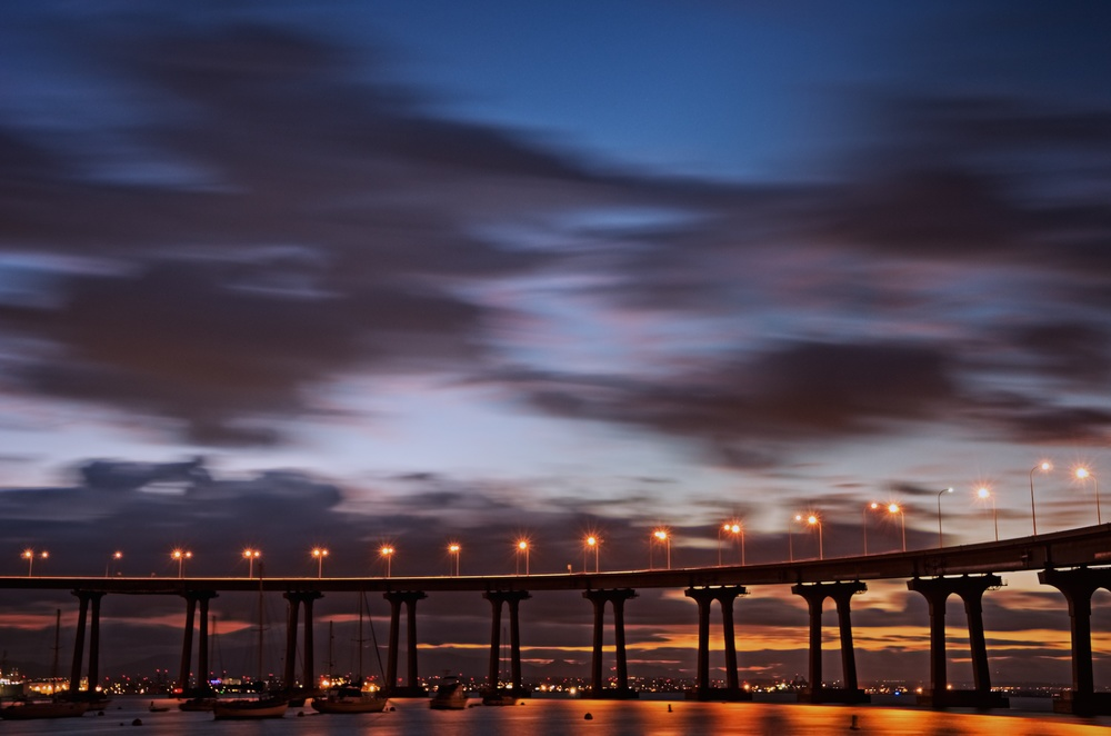Sunrise Under Coronado Bridge