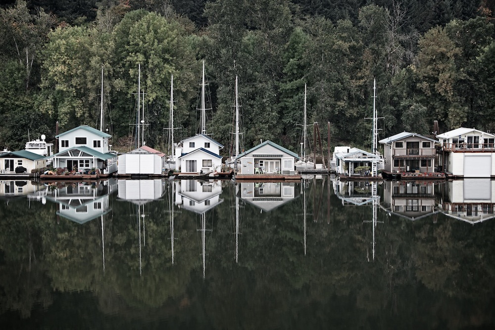 Houses on Sauvie Island