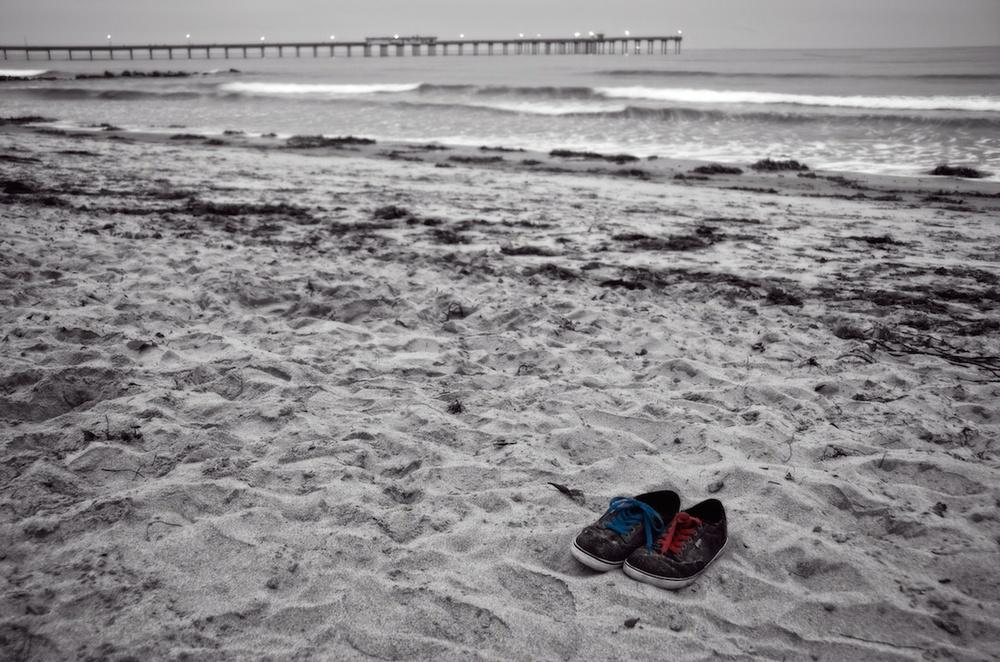 Shoes On Ocean Beach, San Diego