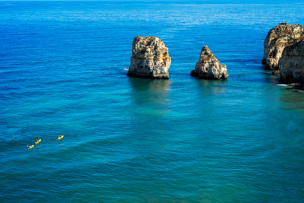 Kayakers, Lagos, Portugal