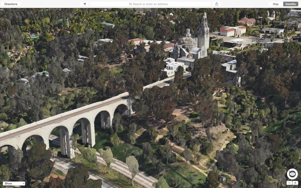 Concept: Apple Maps 3d view