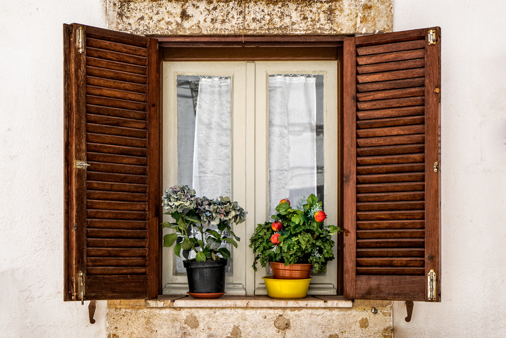 A window in the Alfama, Lisbon, Portugal