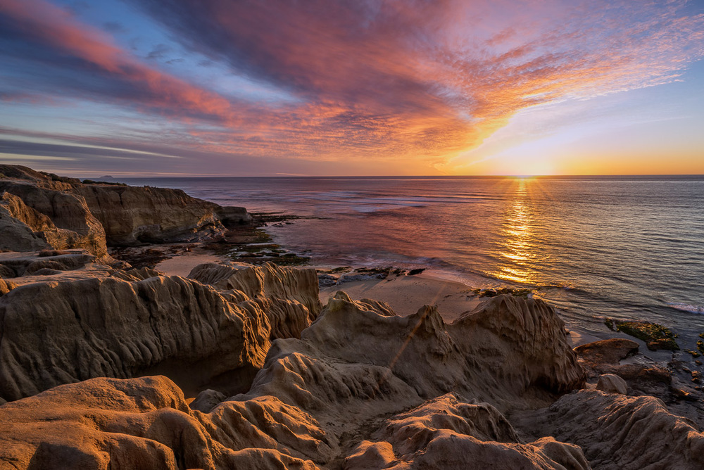 Starburst At Sunset Cliffs