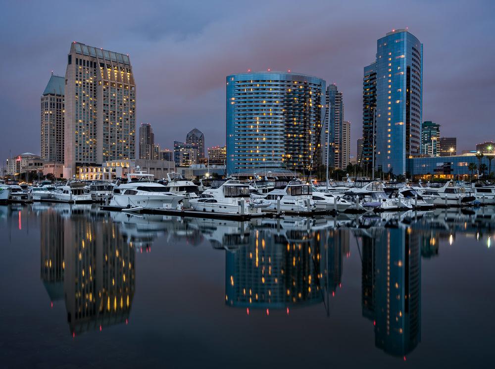 San Diego's Embarcadero At Dawn