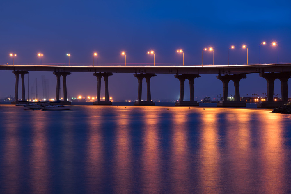Coronado Bridge At Dawn