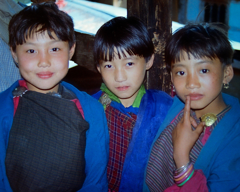 Three Bhutanese Girls