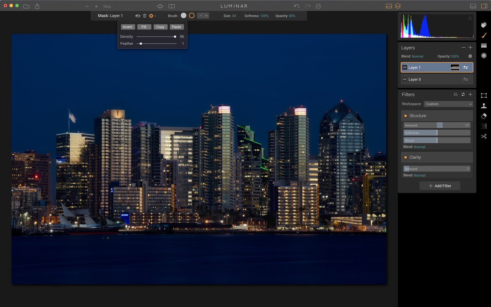 Step 5: Use Layers to add more detail into the skyline