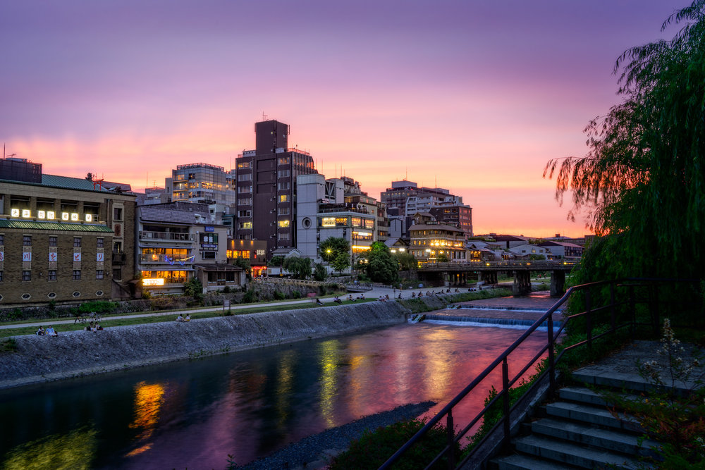 Kyoto River Sunset