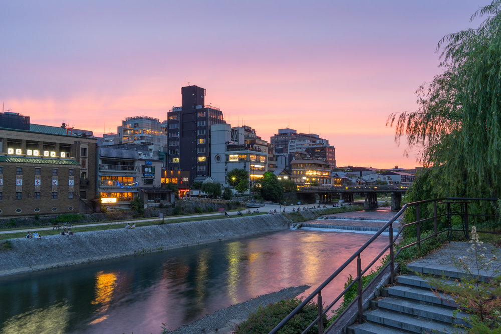 Kyoto River Sunset Basic