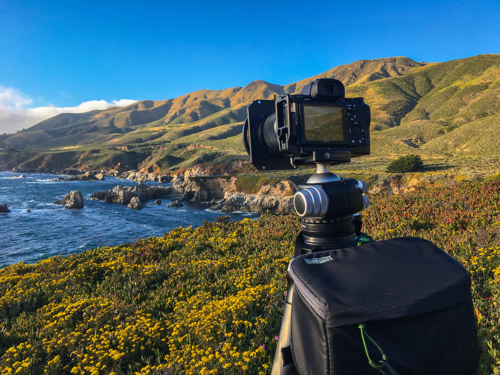 Really Right Stuff Tripod w/ Sony A7Rii on Soberanes Point, Big Sur, California