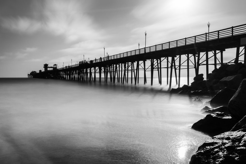 Oceanside Pier Silhouette, Oceanside, California