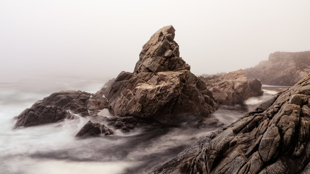 Matterhorn Rock in fog, Big Sur, California  Contact Scott  to commisson a print or license this image.