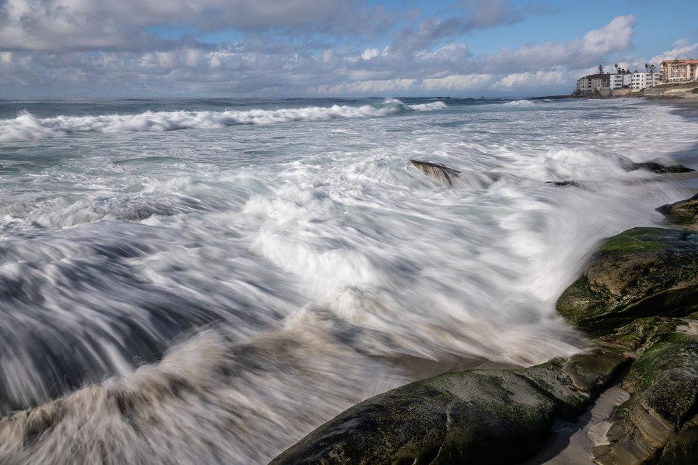 Surging Tide In La Jolla, California