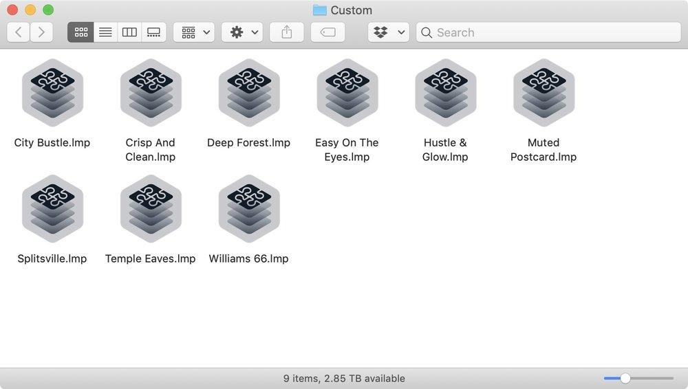 Luminar 3 : Use File > Show Luminar Looks Folder to find your custom Luminar Looks folder