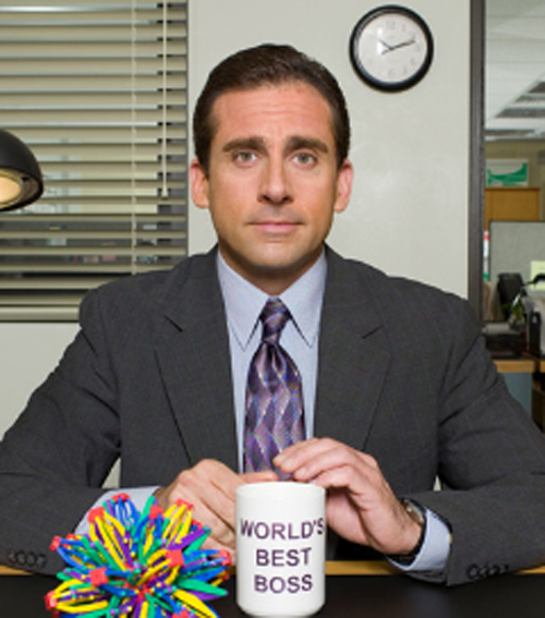 Steve Carell as Michael Scott on 'The Office', victim of the Peter Principle