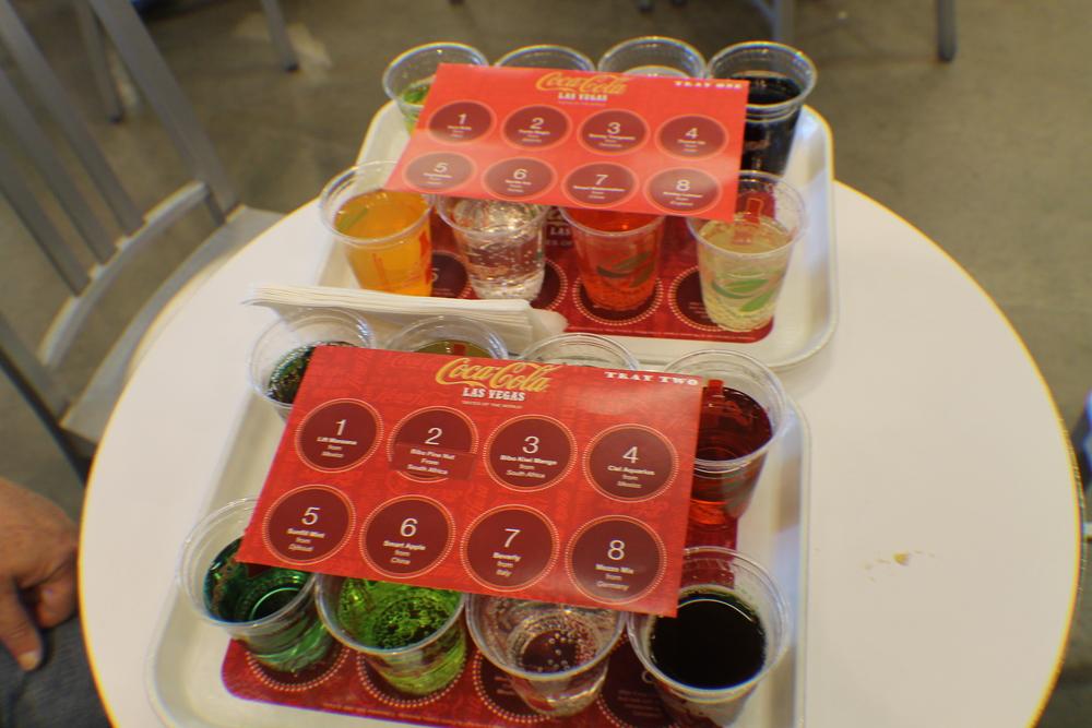 """Coca-Cola """"tasting plate"""", Las Vegas 2013"""