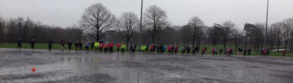 In terrible weather large numbers of people still turn out for JogBelfast (pic courtesy of @_vselliott)