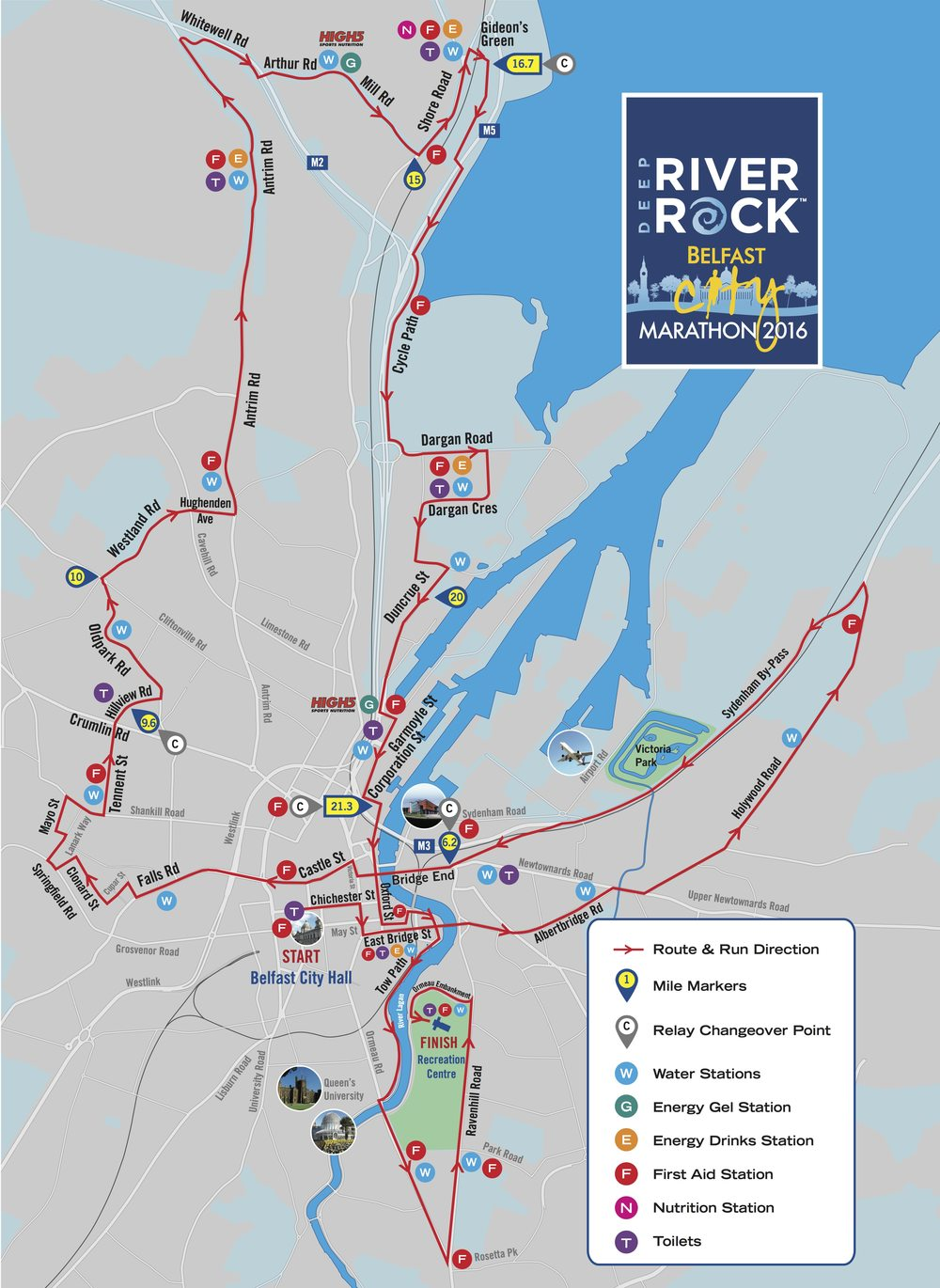 Belfast City Marathon 2016 Route