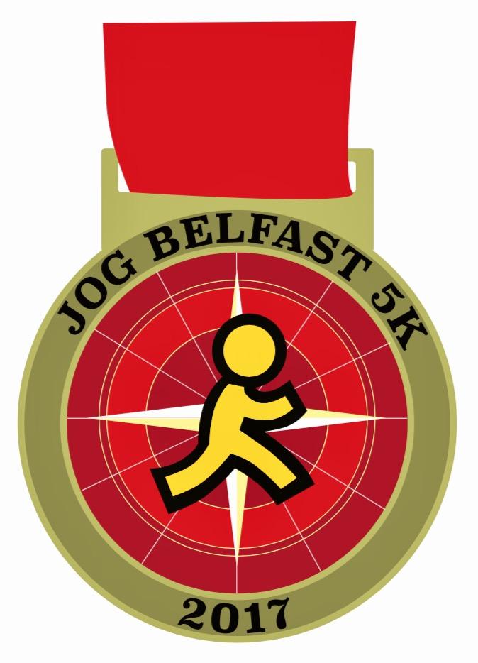 Red JogBelfast 5k medal