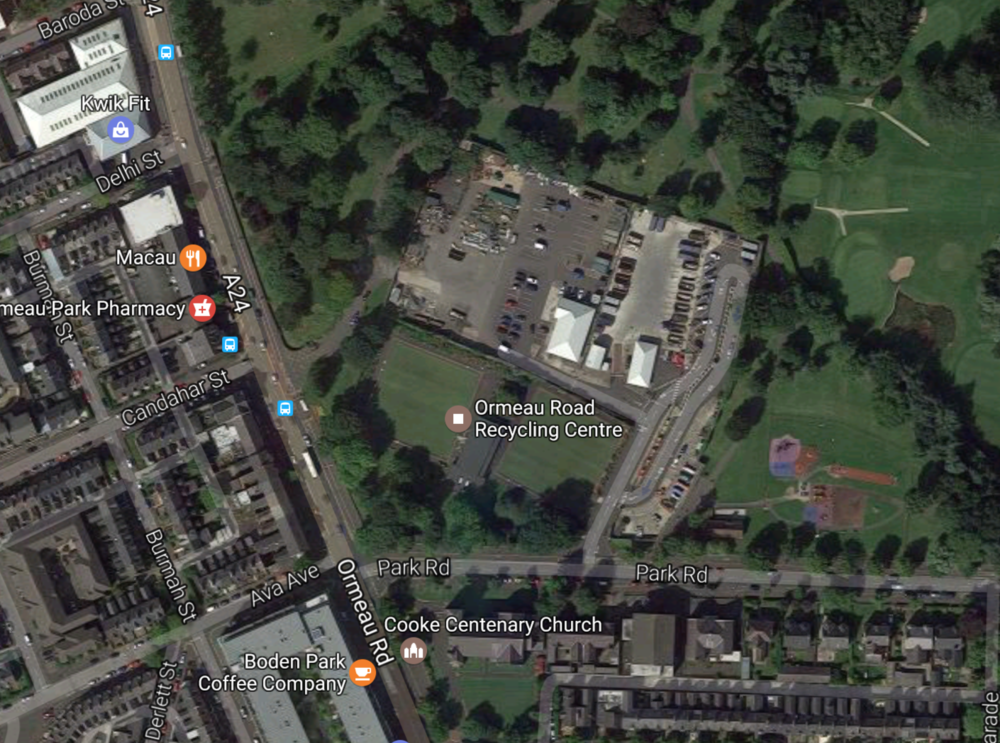 Ormeau Bowling Pavilion is on the corner of Park Road and Ormeau Road (beside the recycling centre)