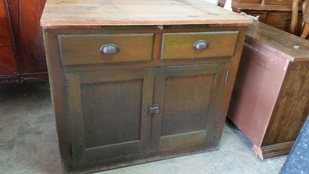 Crazed Primitive Cabinet — Red Door Furniture Co