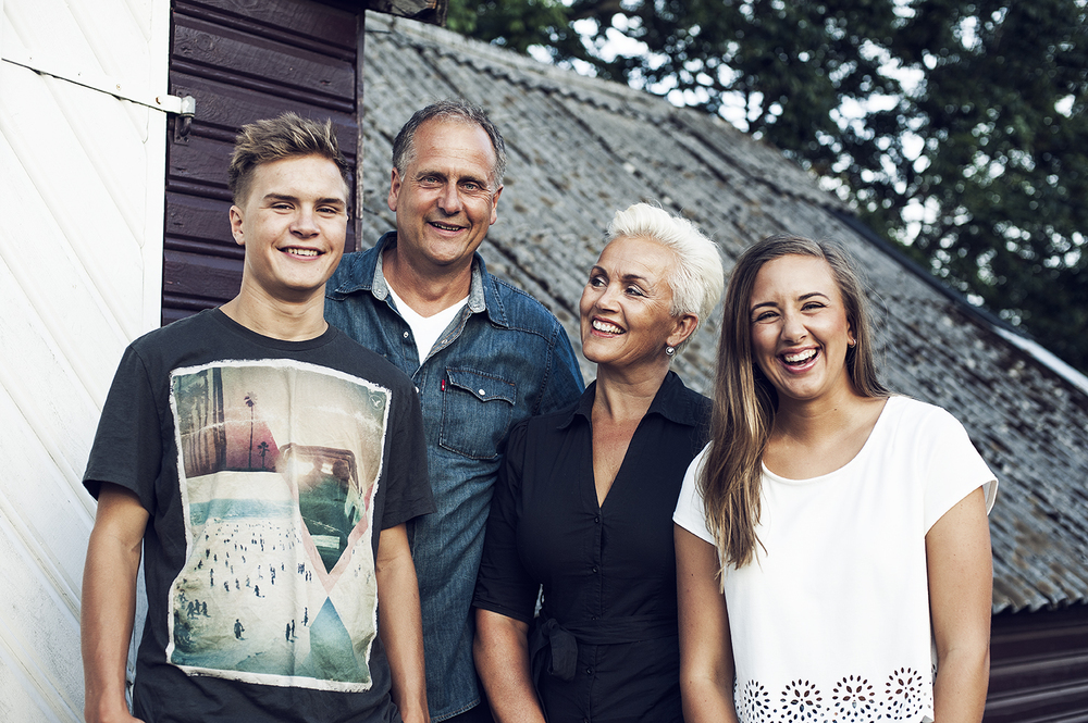 Sivert, Roger, Mette og Pauline. Fotograf: Stian Herdal