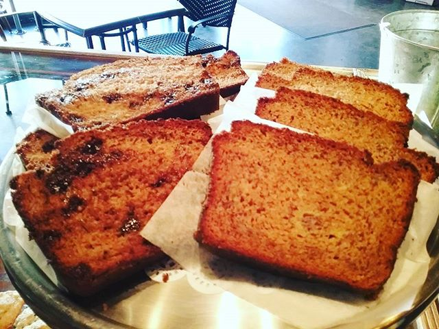 Mona has been busy baking this morning! We have gluten free banana bread as well as gluten free zuchinni chocolate bread! Hurry before its gone!