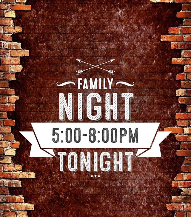 Despite our recent hour change, we will be open for family night tonight! Hope to see you all here! 😊
