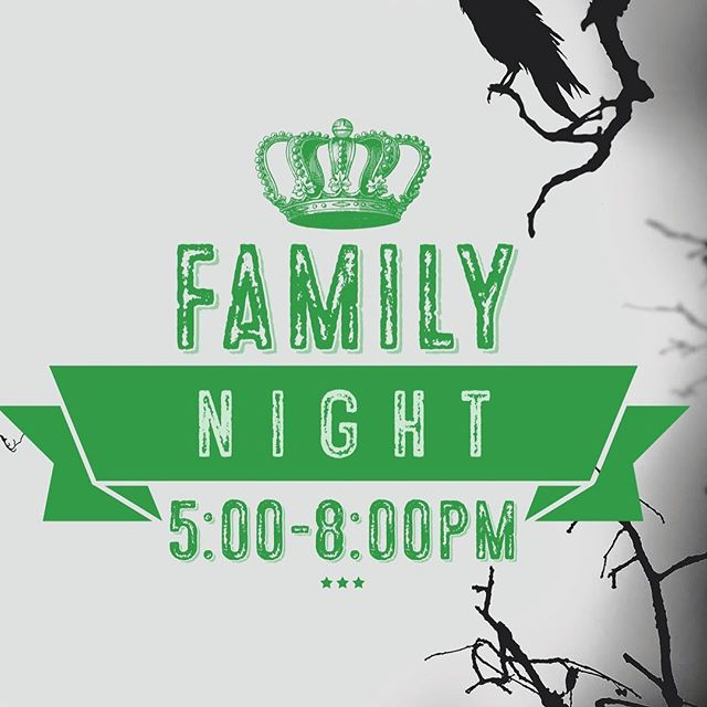 Family night TOMORROW! Open until 8:00pm. We don't have music but the fun starts at 5! Bring games, we have a few available. Enjoy some coffee while the kiddos have fun!
