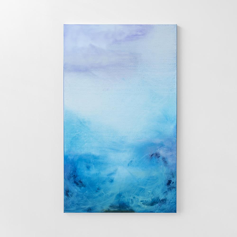 Into the distance / 2017 oil on canvas / 200 x 120 cm aluminium frame