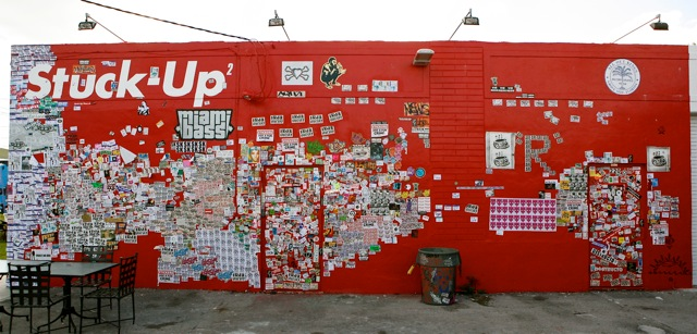 db's sticker wall… cwmosier