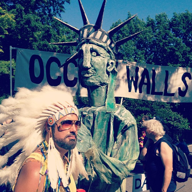 Occupy walls (Taken with Instagram at Dance parade nyc)