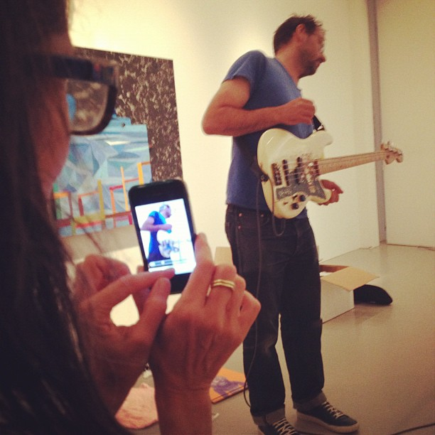 @cheryldunn snapping #chrisjohanson .. Sun foot rules! (Taken with Instagram at Mitchell-innes and nash)