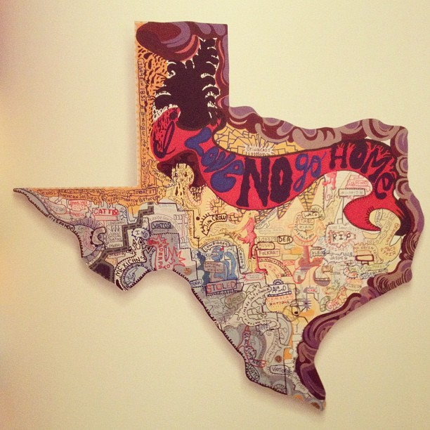 @erikparkerstudio thanks for the crazy rad book!!! #dontmesswithtexas (Taken with  Instagram )