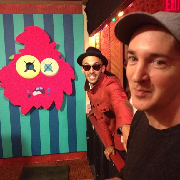 These guys @kawsstudio @jr #galerieperrotin carnival  (at russian tea room)