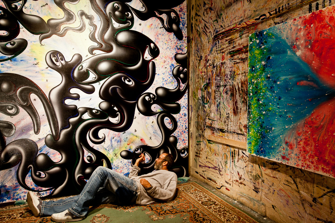 standardhotels :      From Kenny Scharf's Kolors show at Paul Kasmin Gallery        Photo by  Chris Mosier