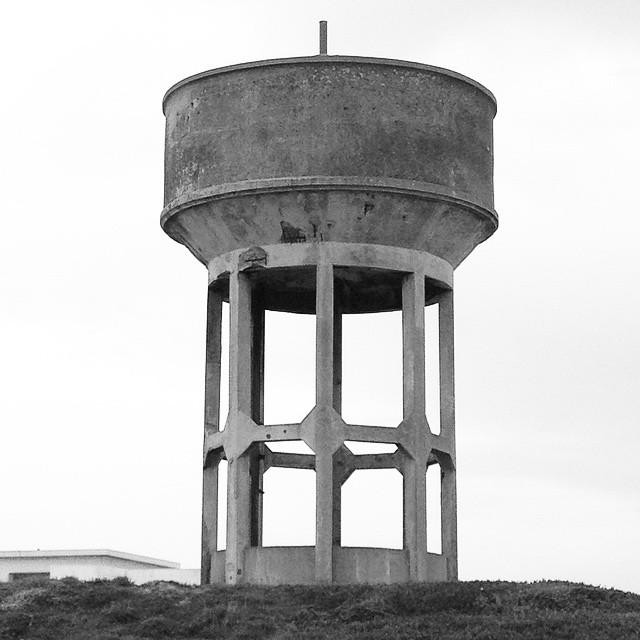 Nod to the water tower photos of #BerndandHillaBecher (at Peniche, Portugal)