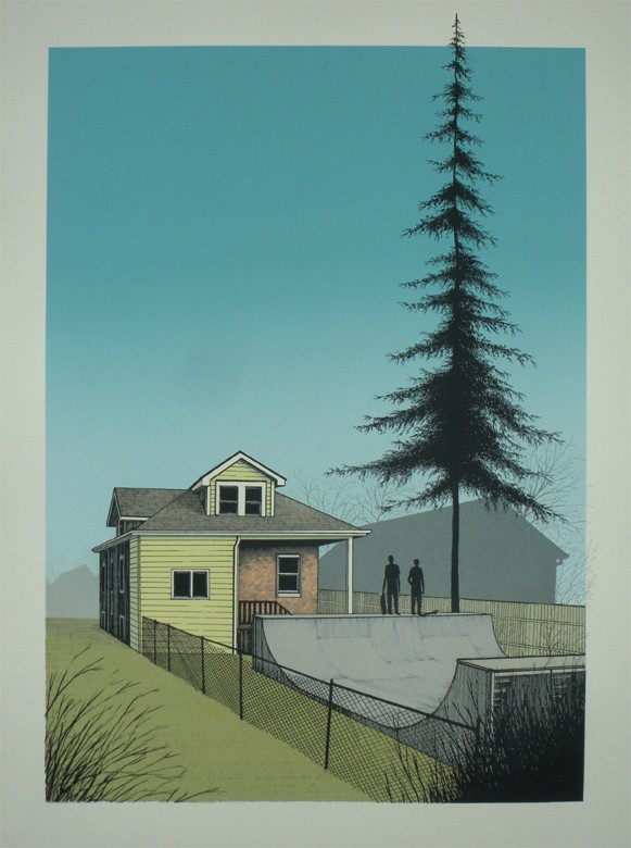 "thesleepscience :      ""Spring Is Here"" Art Print by  Justin Santora : 18″ x 24″ screenprint. Edition of 75. Costs $40."