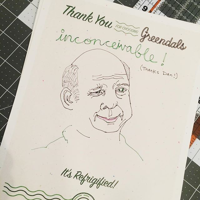 New art from @eightcents about to go up on the website! #madefromtires #inconceivable #princessbride #greendalsart