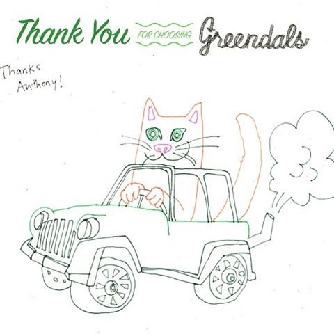 Cats prefer Jeeps over all other SUVs by a factor of 2 to 1. New art  at greendals.com by @eightcents . #madefromtires #greendalsart