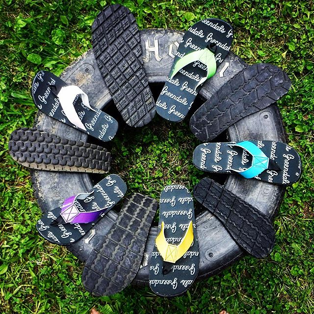 """Oh snap! Are those sandals made from that big ol tire?"" Yeah, dude, they are. #madefromtires"
