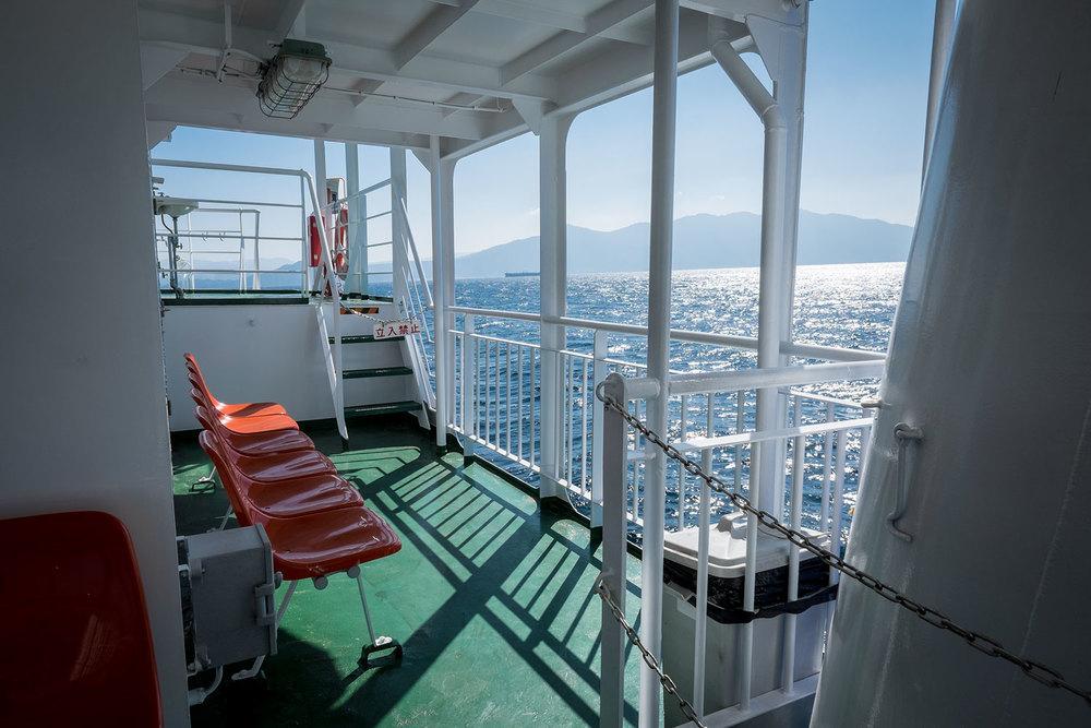 La vista dal traghetto di Cape Sata
