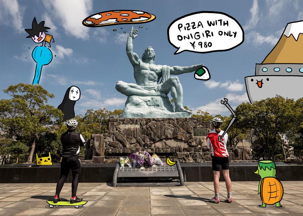 A Nagasaki la pizza è una bomba!