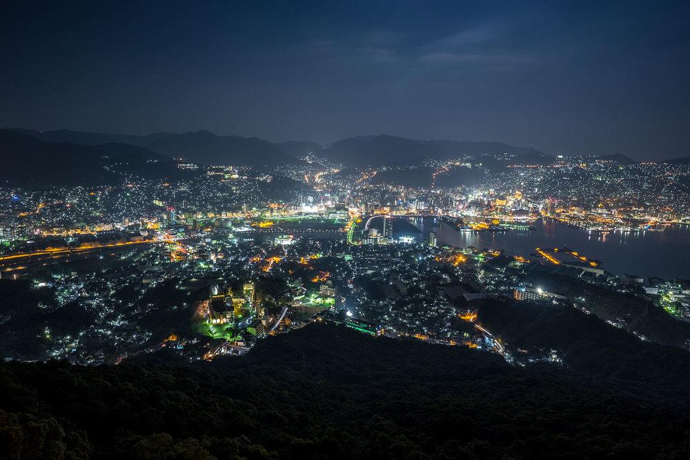Nagasaki by night.