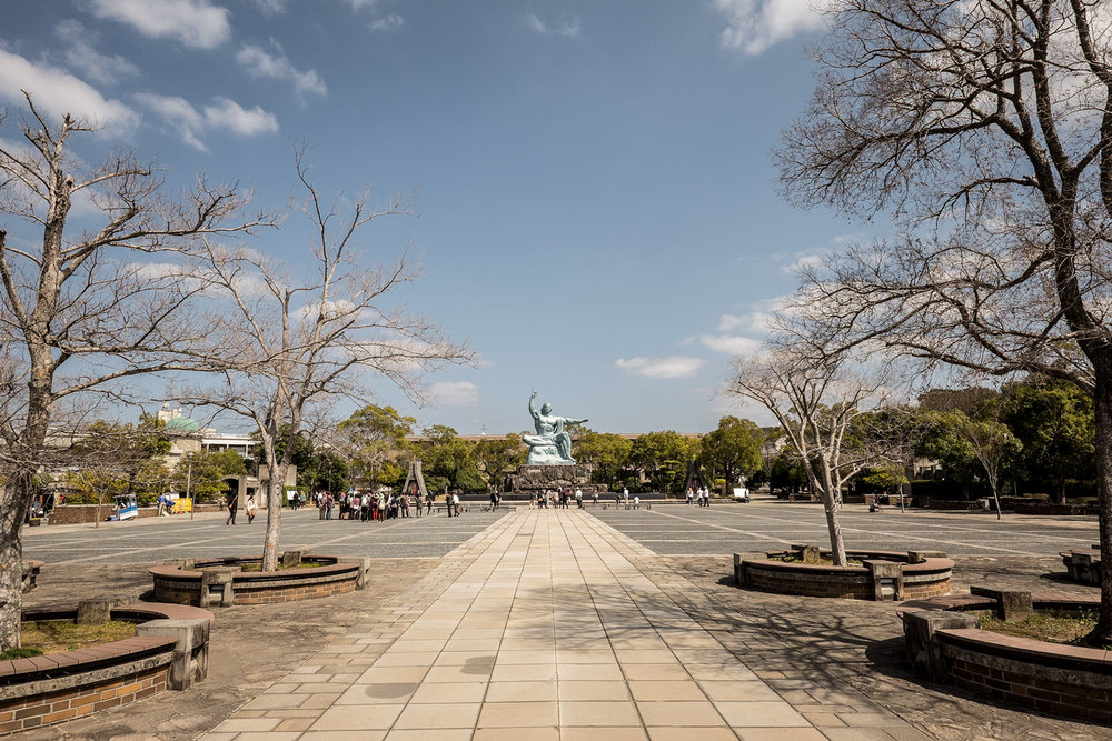 The peace park of Nagasaki.