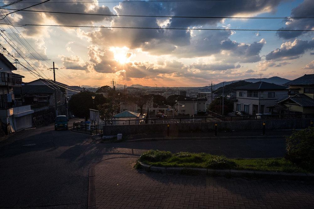 Il tramonto su Kitakyushu
