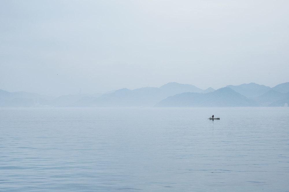 Scene mattutine da una delle isole.