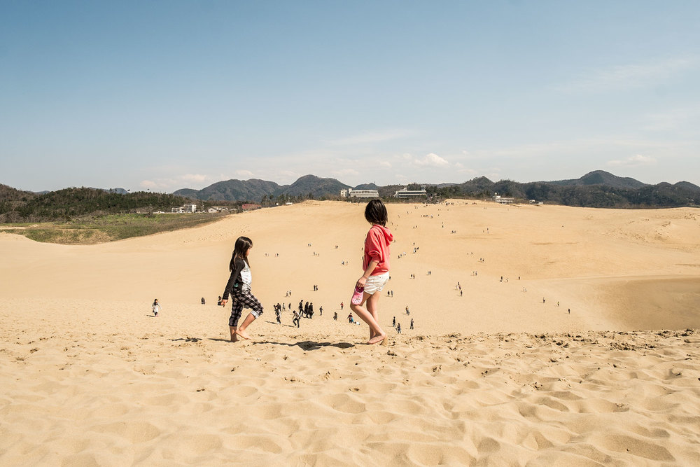 Another view of the Tottori sand dunes.